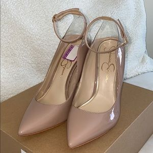 Jessica Simpson Lonnie Nude & Clear Heels